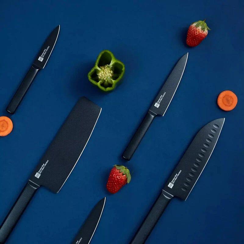 Juego de 5 cuchillos de cocina de acero inoxidable antiadherente