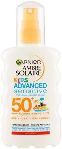Garnier Ambre Solaire Advanced Sensitive Kids, spray hipoalergénico, IP50 +, 200 ml, 1 paquete