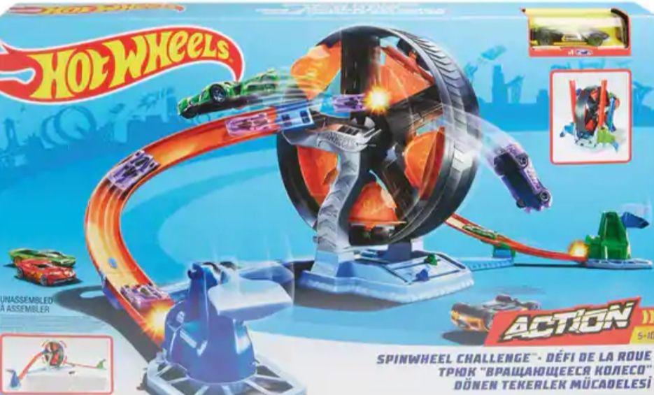 Hot Wheels Pista de coches   Desafio de la Rueda (Mínimo)