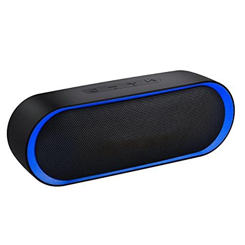 Altavoz Portatil Bluetooth,24H de Reproducción,con Micrófono,Inalámbrico con AUX/TF(Impermeable)