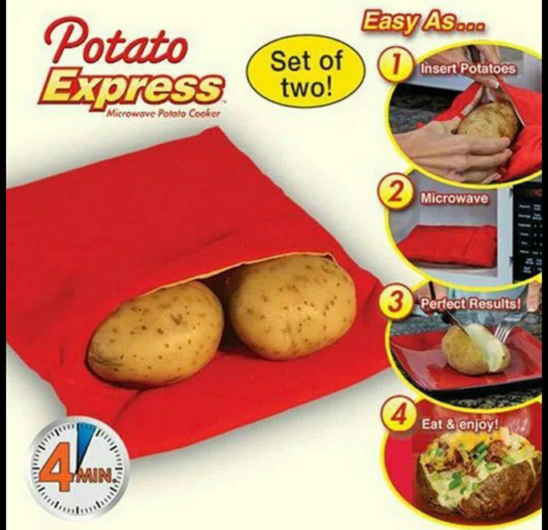 Bolsa asar patatas en microondas