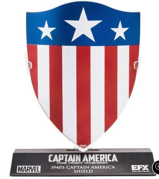 Escudo Marvel Capitán América 1940's - Réplica 1/6 (10 cm)