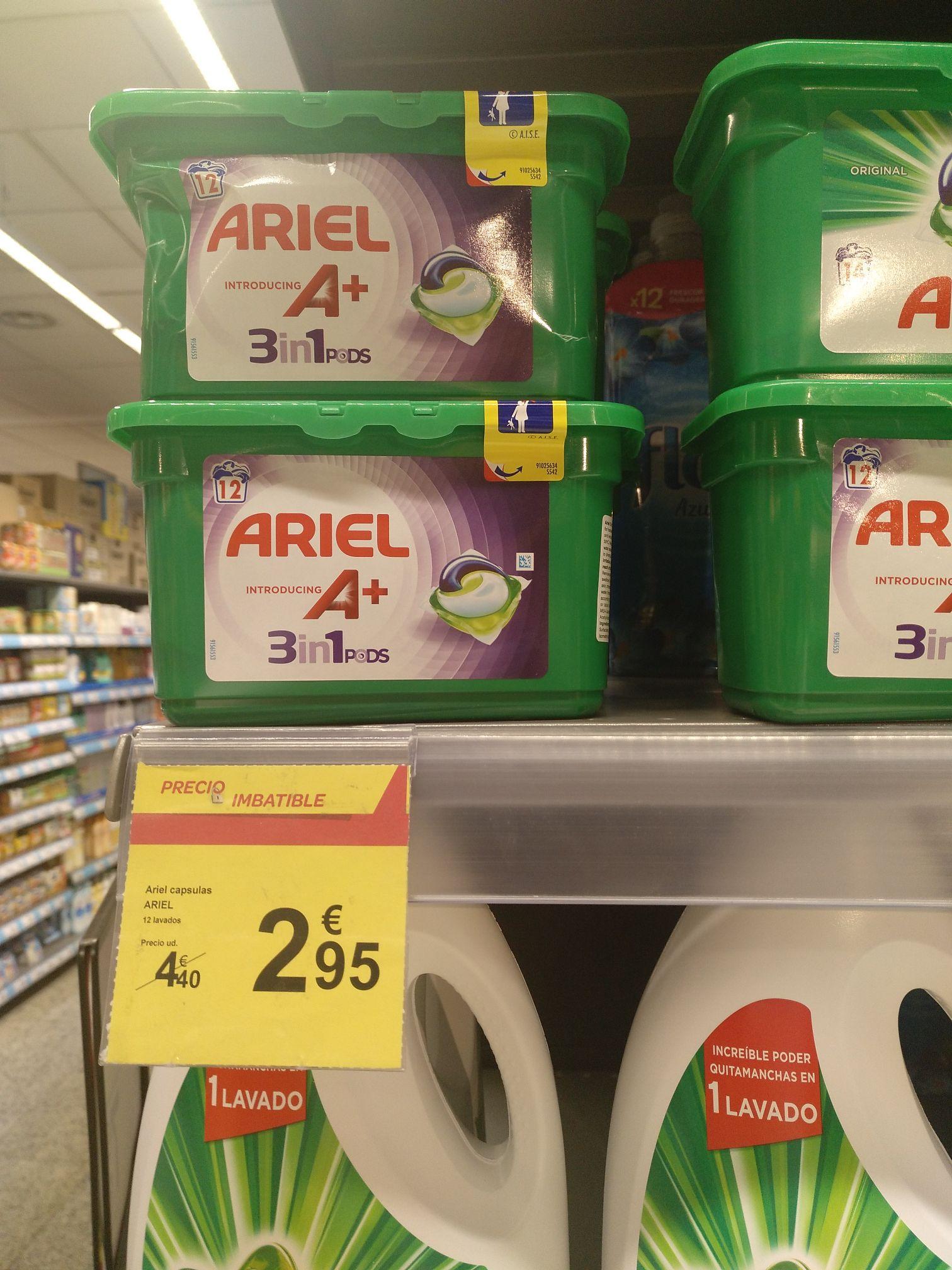 Ariel 12 capsulas Carrefour