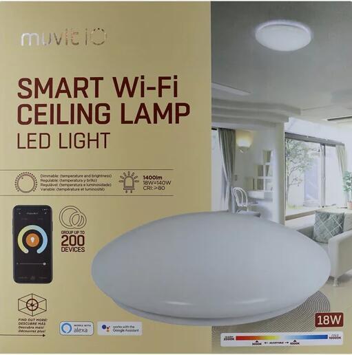 Plafón LED Muvit Smart Wi-Fi 18W Ø32 cm
