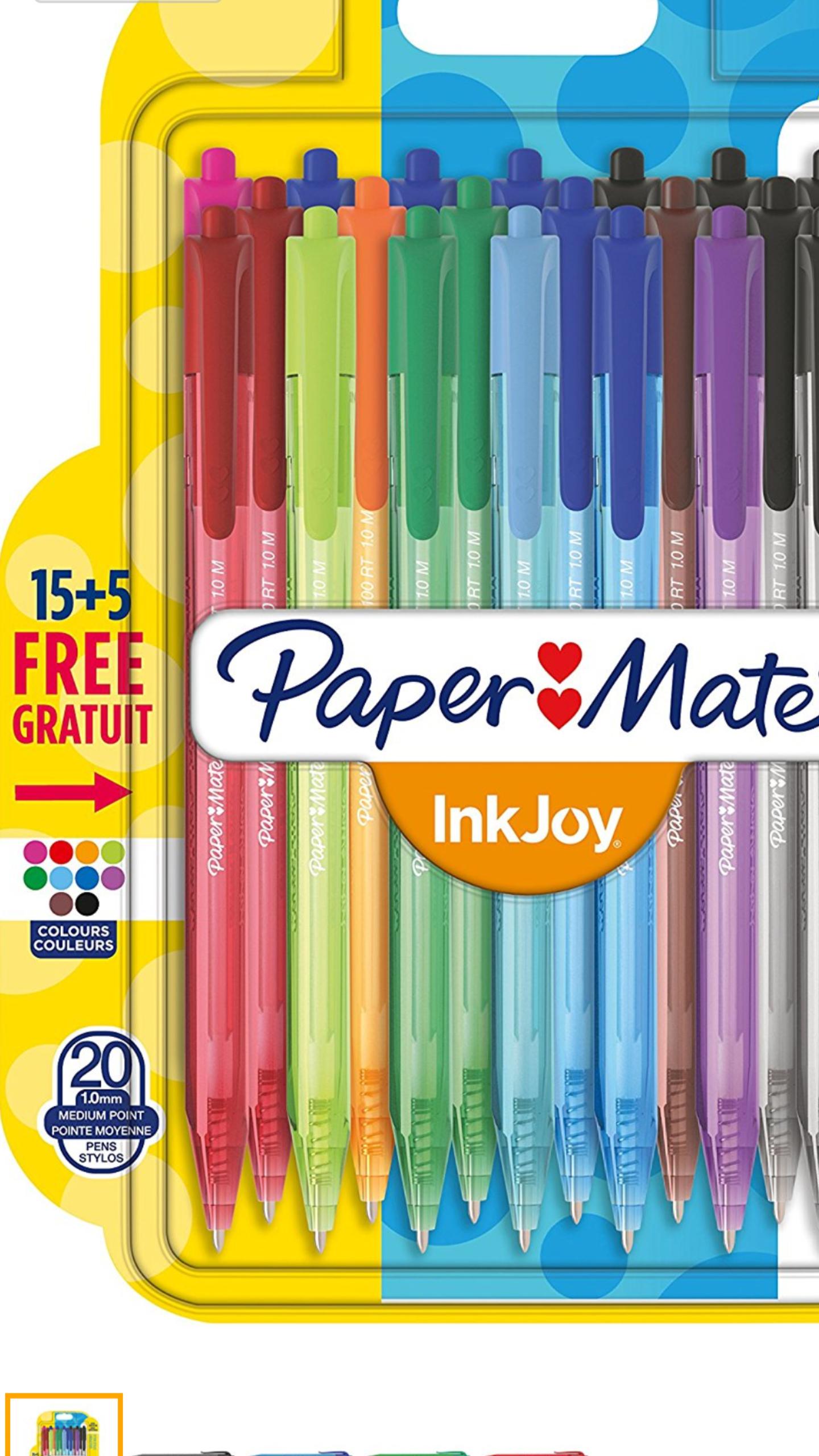 Bolígrafos retráctiles multi color