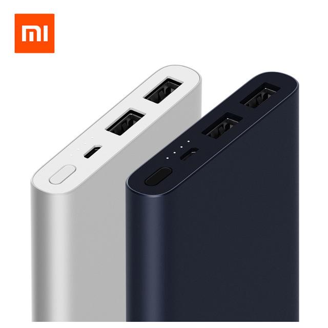 Original Mi Power Bank 2 10000mAh - Dual USB Carga Rápida 3.0