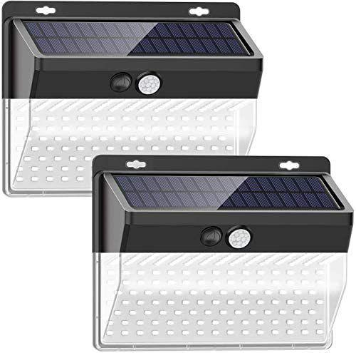 Luces solares impermeables, 206 LED / 3 Modos(Pack de 2)