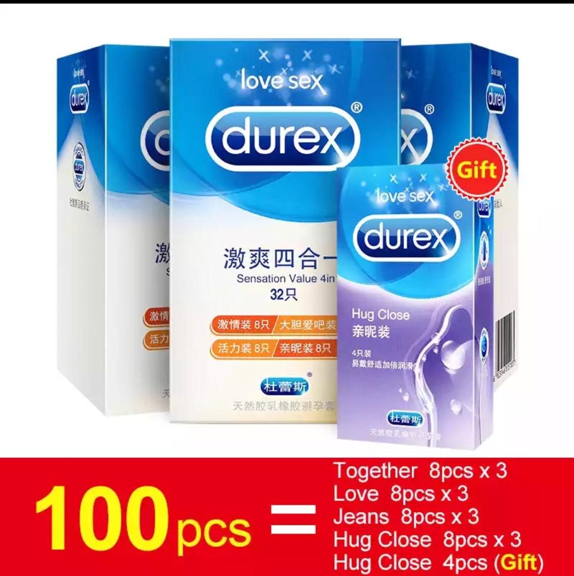 100 preservativos Durex de importación