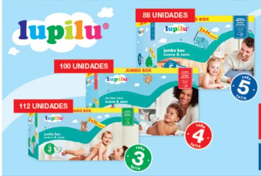 Pañales Lupilu T. 3,4,5.