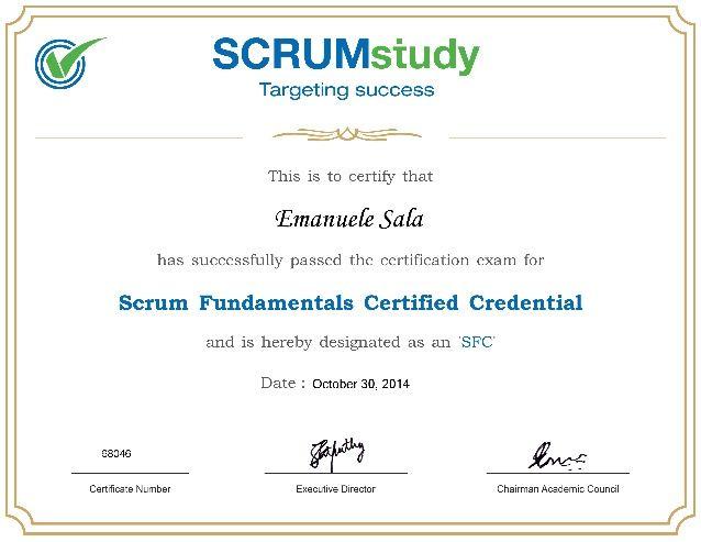Scrum fundamentals certified gratis