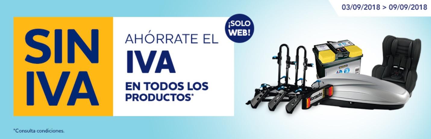 Ahórrate el IVA en todos los productos en NORAUTO