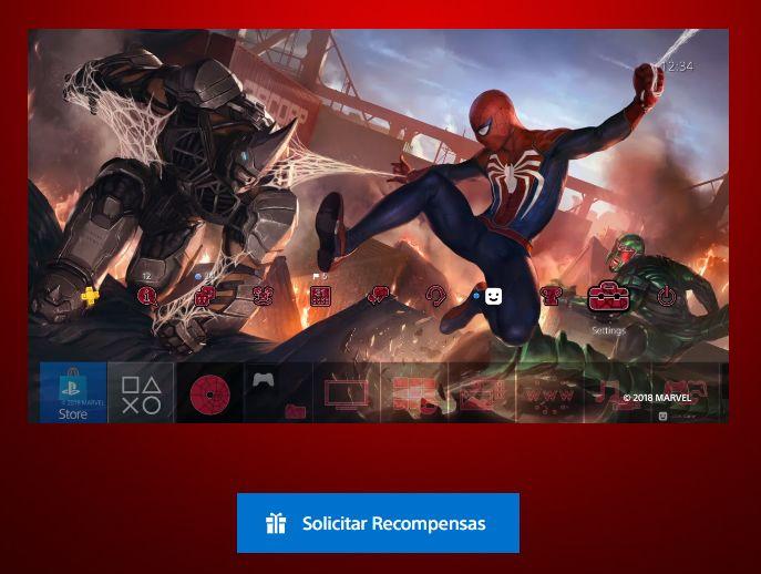 Tema Dinámico  de Spiderman Gratis para PS4(Solo para cuentas de USA, por el momento)