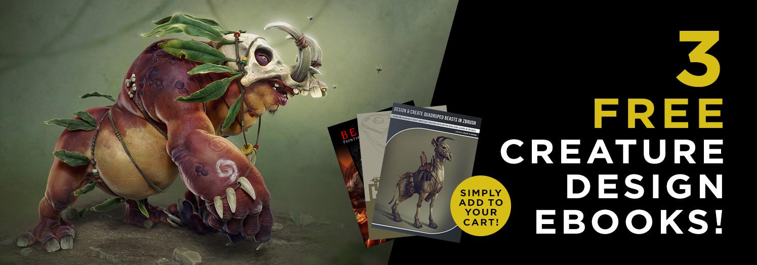 3 eBooks gratuitos de diseño de criaturas para artistas (Inglés)