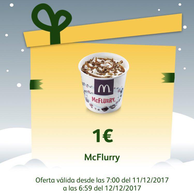 Vuelve el McFlurry por 1€