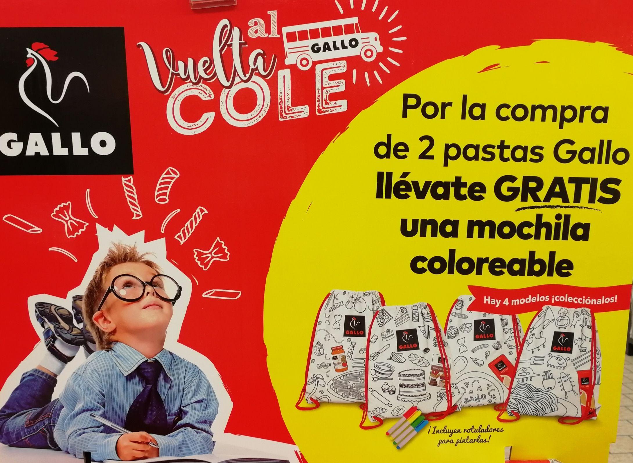 Mochila coloreable [GRATIS] x 2 paquetes de pasta (1,79€) en LIDL