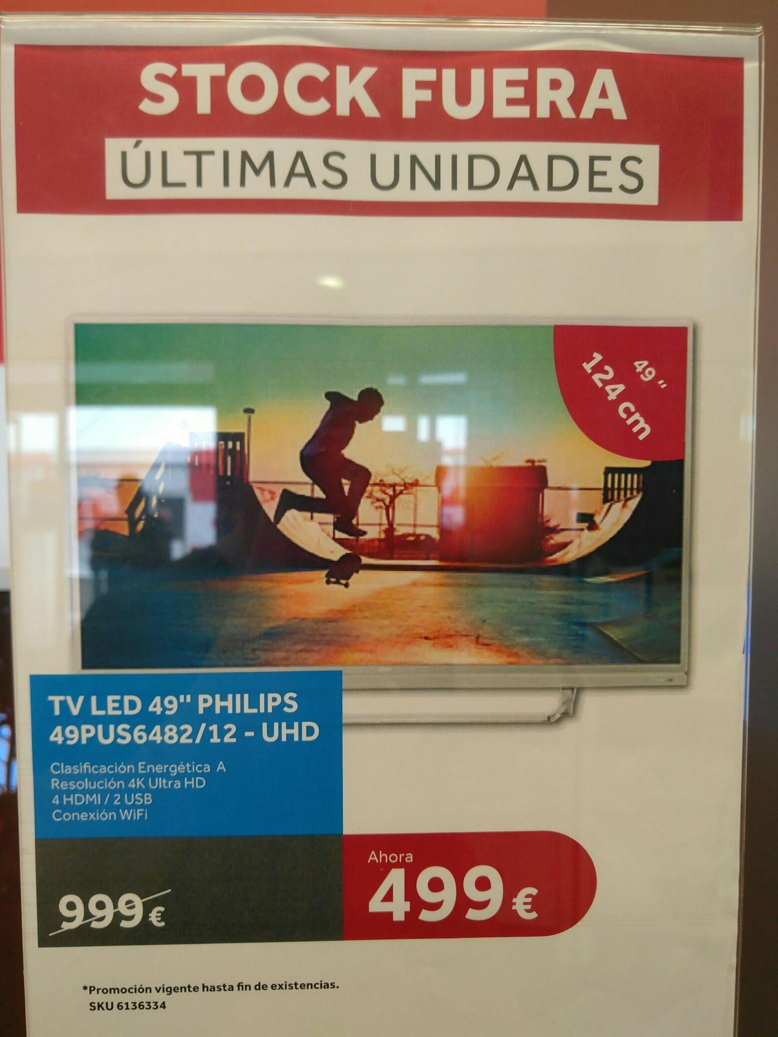 """Televisión Philips 49"""" 4K"""