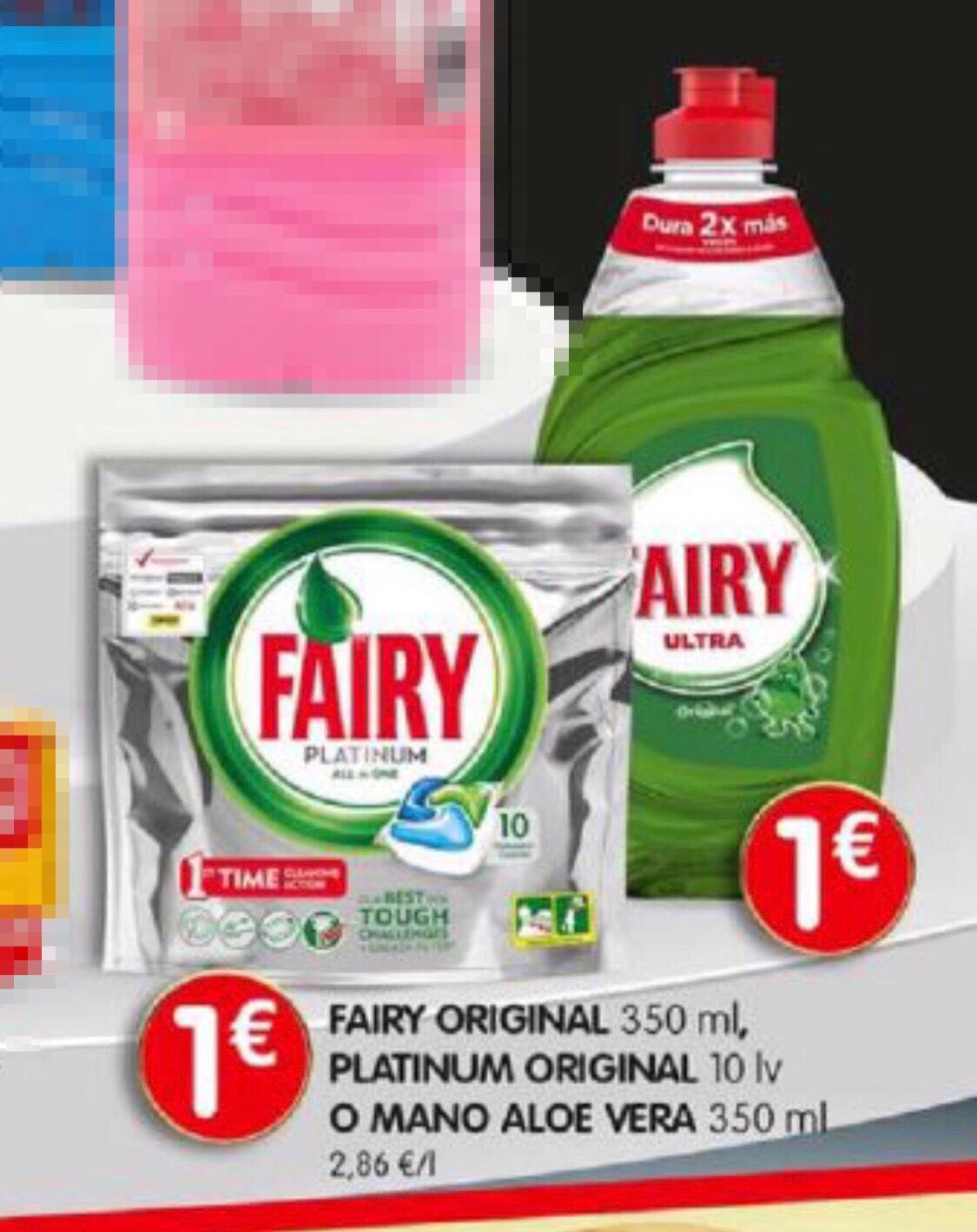 Fairy Platinum lavavajillas (10pastillas 1€!)
