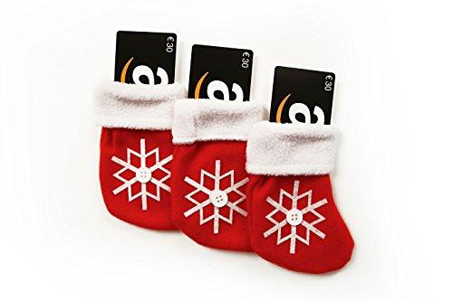 Lote de 3 Tarjetas Regalo y de regalo Calcetines navideños