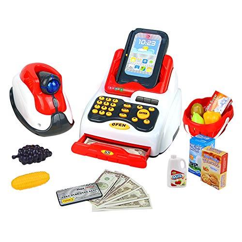 Juguete Supermercado (caja registradora, terminal tpv, escaner, productos, cesta...)