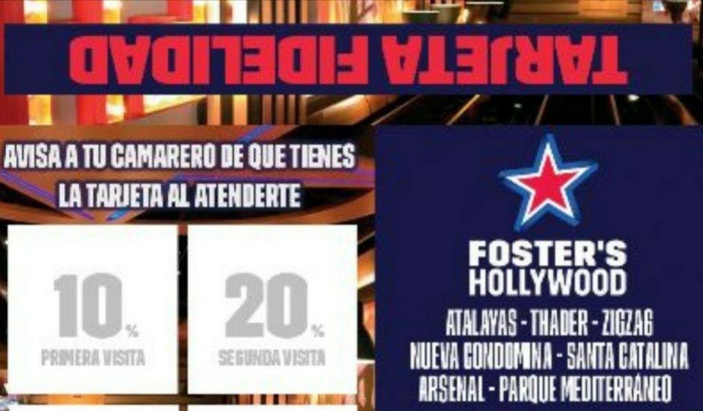 Descuentos estudiantes Foster Hollywood Murcia