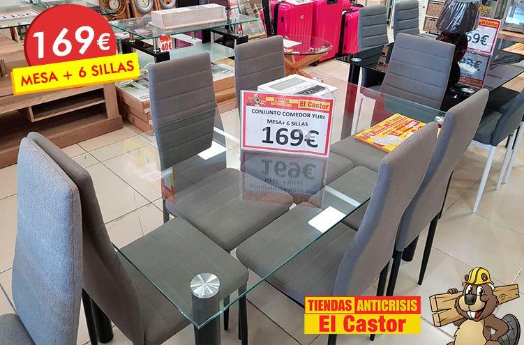 Mesa más 6 sillas a este precio ganga