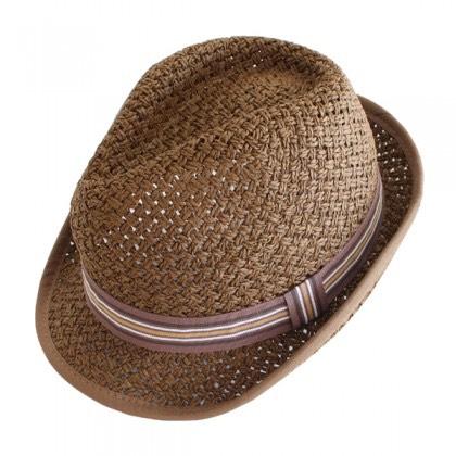 Sombrero borsalino de paja marrón
