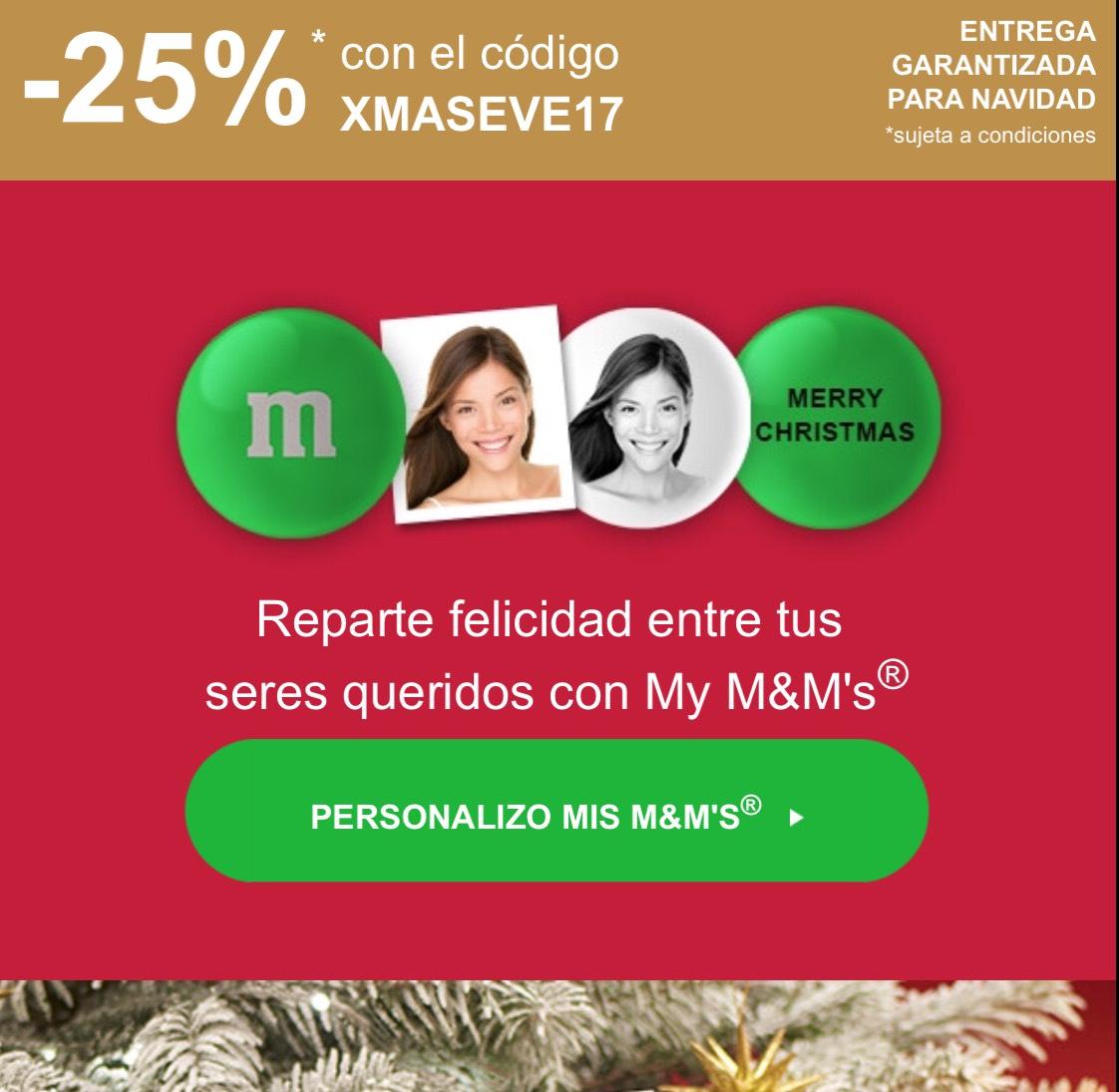 25% M&M's