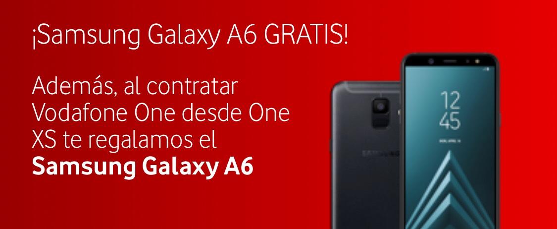 Samsung Galaxy A6 GRATIS al contratar Vodafone One desde One XS