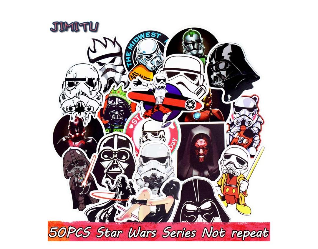 50 Pegatina star wars