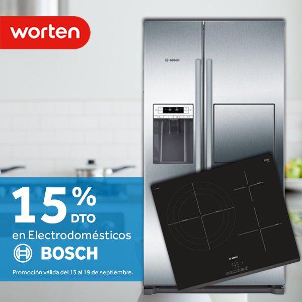 15% de descuento en Gran Electrodoméstico Bosch