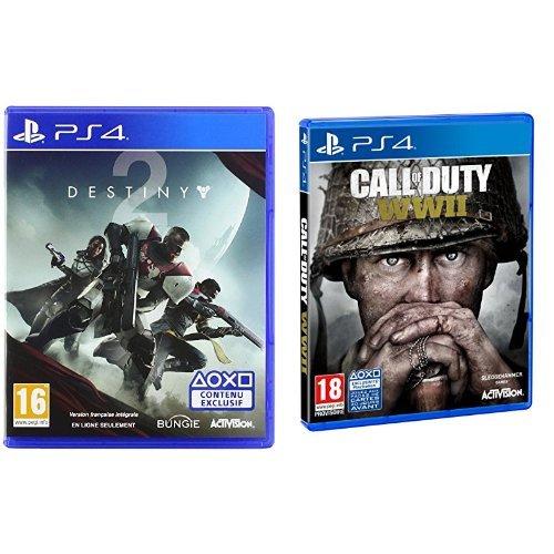 COD WWII + Destiny 2 (Para PS4)