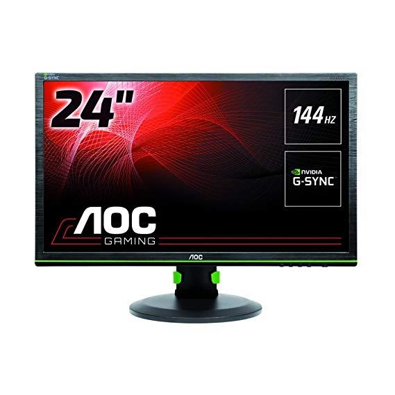 "AOC G2460PG - Monitor gaming de 24"" (G-Sync, 144Hz, DP, ajustable, 1MS"