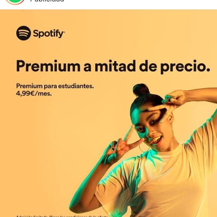 Spotify para estudiantes