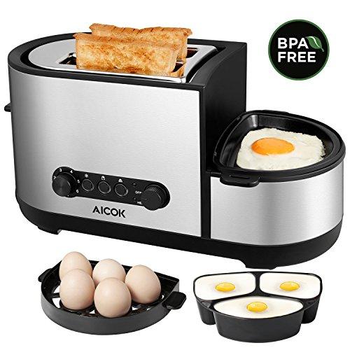 Tostadora 5 en 1 (Hace tostadas y huevos a la vez)
