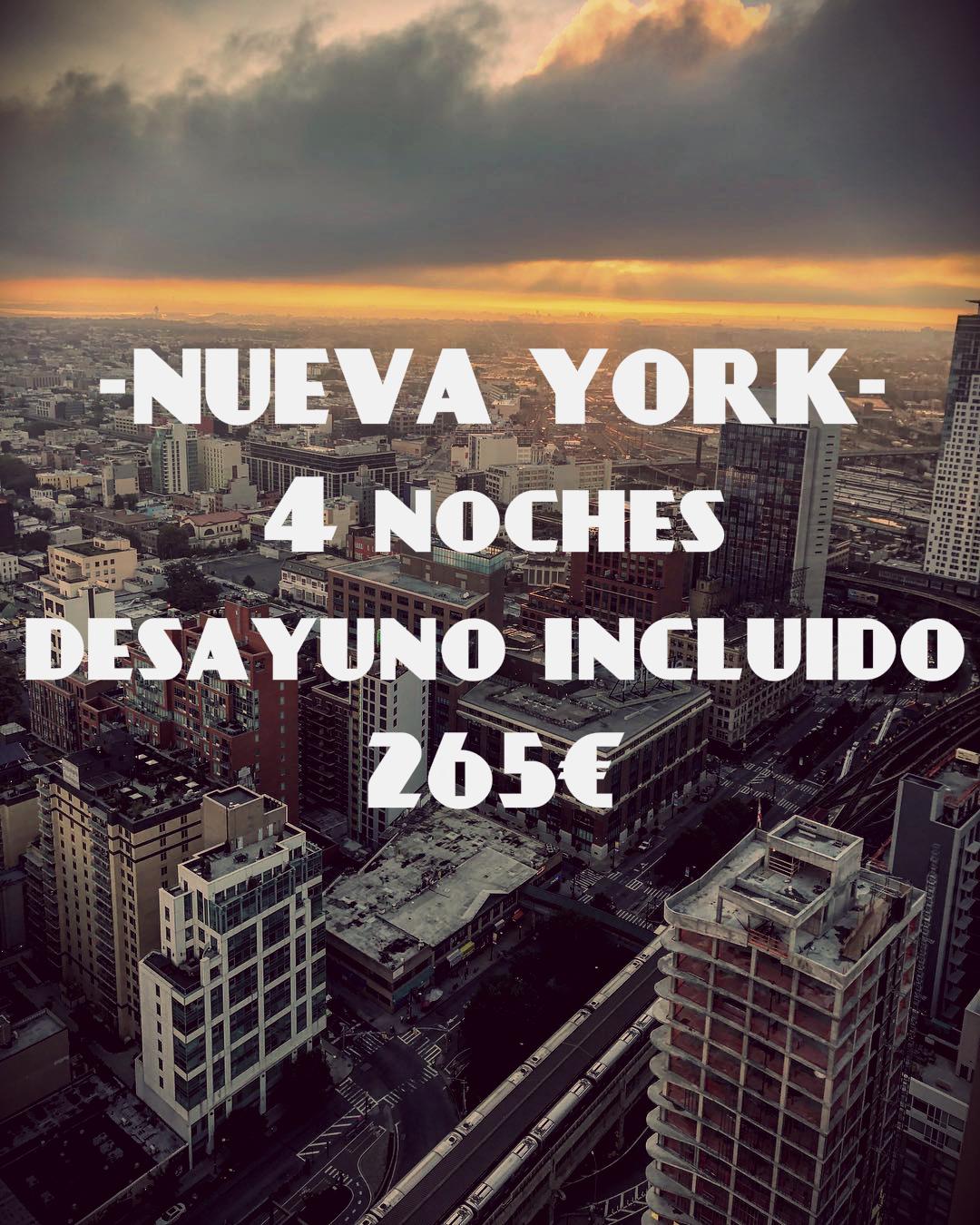 Nueva York - 4 noches de hotel para 2 personas + desayuno