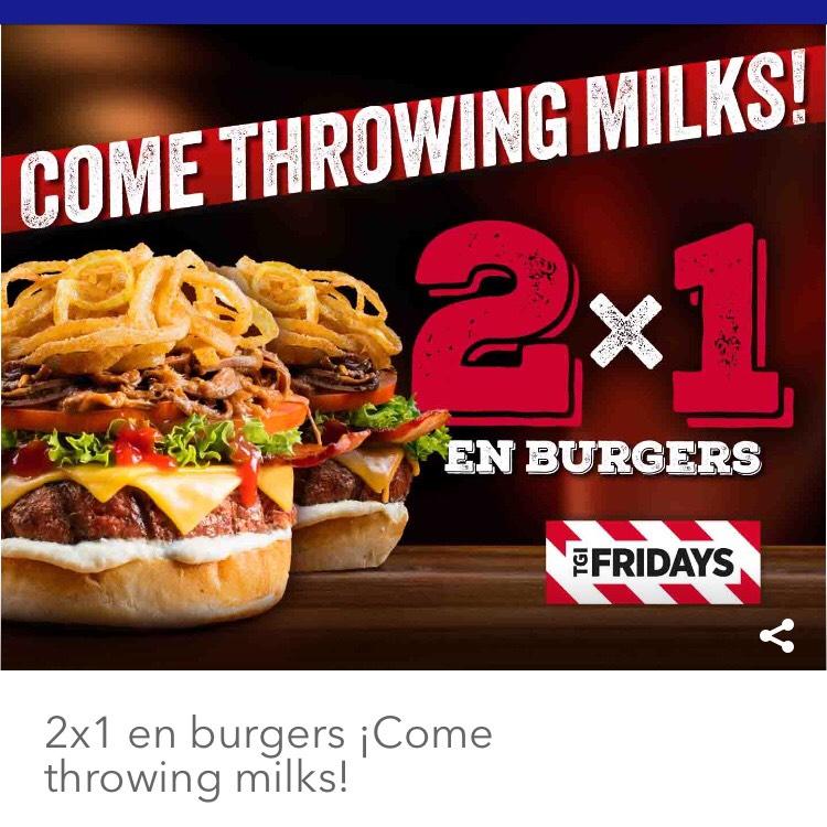 2x1 en hamburguesas - Fridays