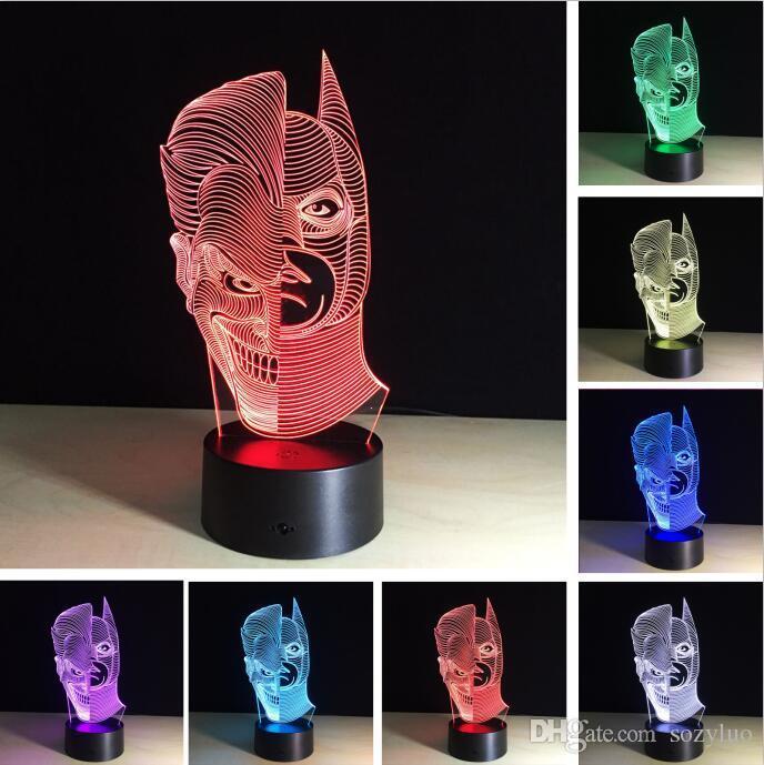 Lámpara 3D Joker Batman solo 3.2€