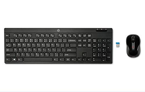 HP 200 - Teclado y ratón inalámbrico (QWERTY Español, inalámbrico, USB), color negro
