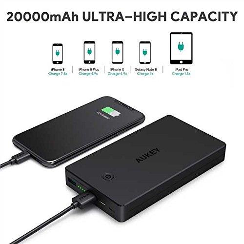 AUKEY Bateria Externa 20000mAh Power Bank