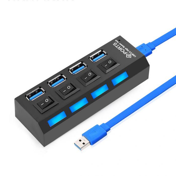 Hub USB 3.0 con 4 puertos