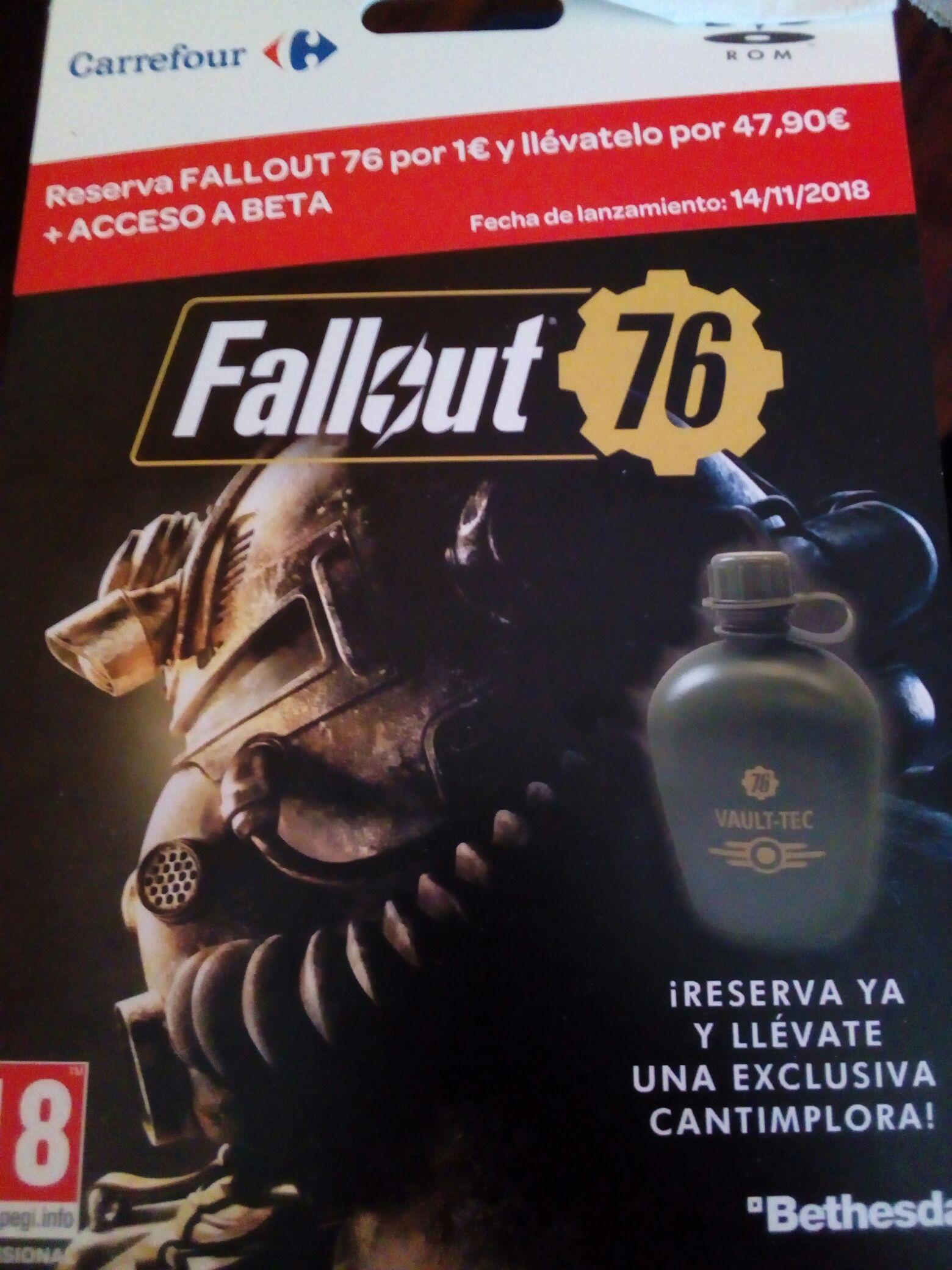 Reserva por 1€ tu Fallout 76 y llévatelo por 47,90