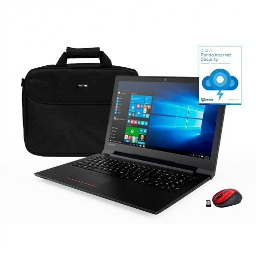 Portátil Lenovo Essential V110 con A9, 4GB, 500GB, 39,62 cm - 15,6'' con Maletín, Ratón Optico y Panda Antivirus