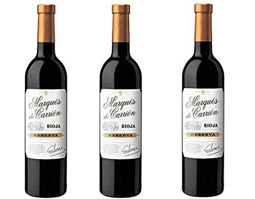 3 botellas Marqués de Carrión Reserva D.O Rioja Vino Tinto