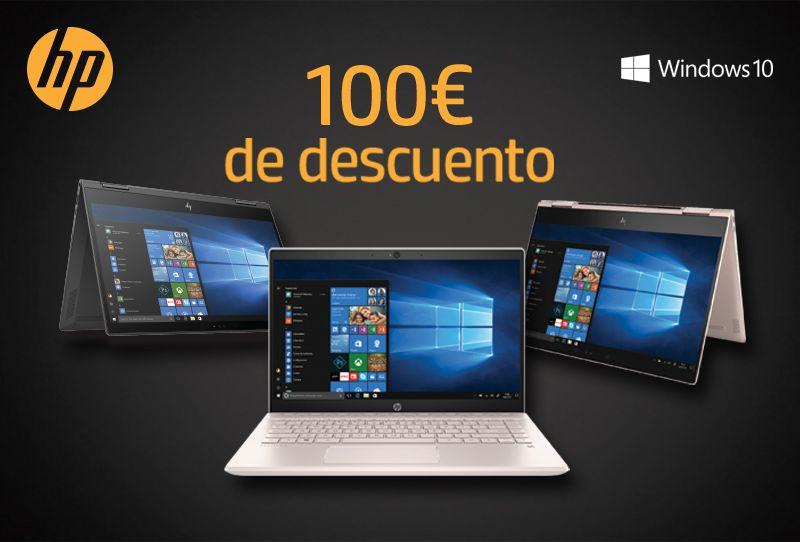 100€ de descuento en portátiles HP