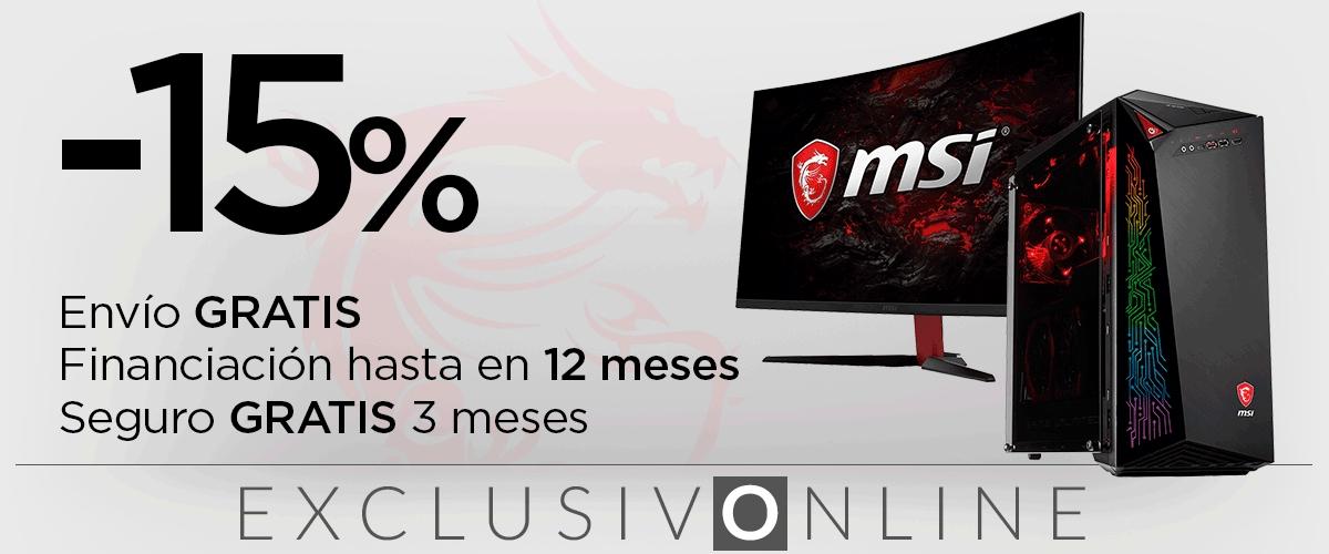 15% de descuento en todo MSI
