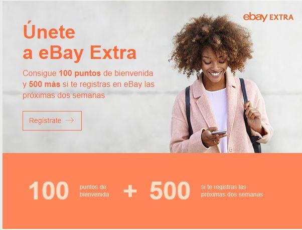 Solo seleccionados: 5 euros sin mínimo con eBay extra