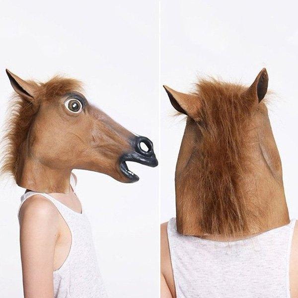 Caballo loco máscara disfraz