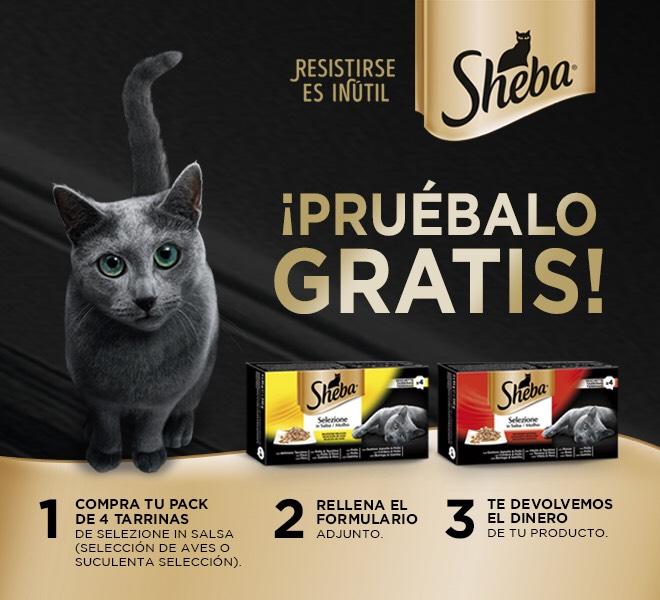Comida para gatos Sheba GRATIS (Reembolso)
