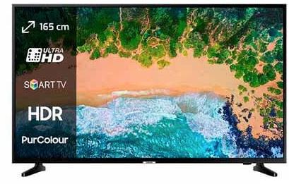 "Televisor Samsung 65"" 4K modelo 2018"