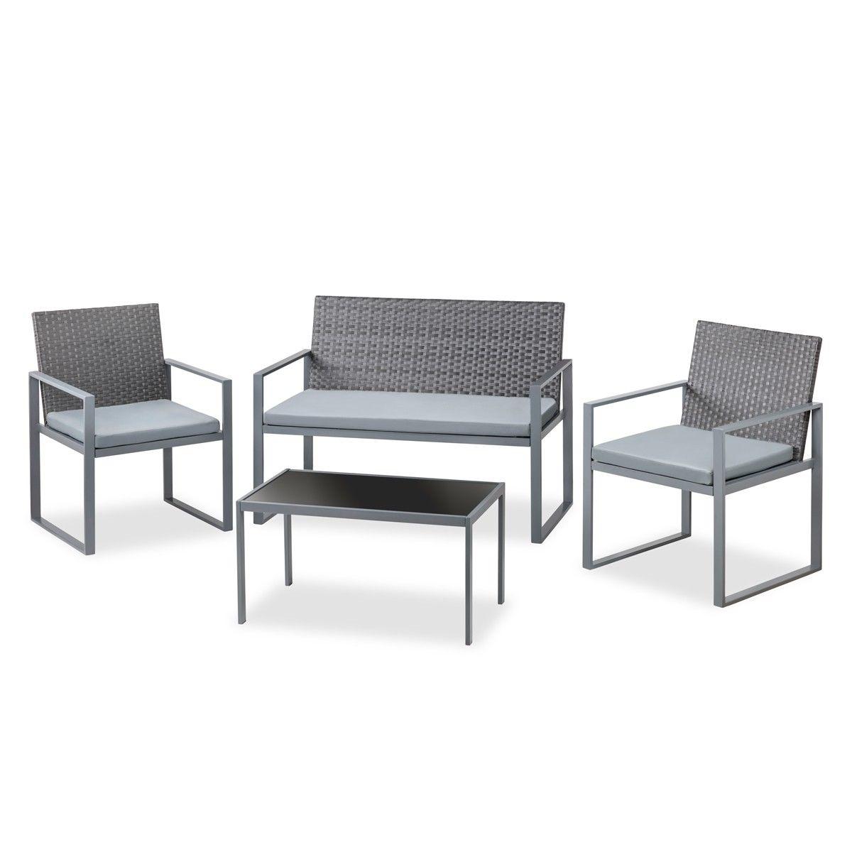 Set de jardín Sofá + 2 sillas solo 59€